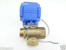 3 way motorized ball valve DN20(reduce port)electric ball valve,motorized valve