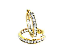 Ohrringe Diamanten 585er Weißgold 1,45 Karat Creolen Wesselton Neu