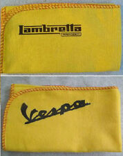 LAMBRETTA & VESPA SCOOTER: HI-QUALITY CLEANING DUSTERs CLOTH WITH DECAL LOGOS