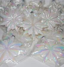 2 pc White Christmas Iridescent Acrylic Snowflake Ornament christmas decoration