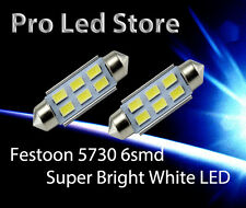 42mm Festoon High Power 5730 6 SMD LED Interior Dome Map Light Bulbs