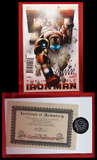 DF Invincible Iron Man #500 Signed by Matt Fraction 205/300 Sealed w COA NM/M+!