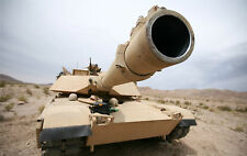 """A1 ABRAMS TANK GUN MILITARY 24""""x 38"""" LARGE HD WALL POSTER PRINT"""