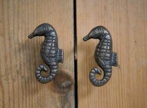 Antique Bronze Seahorse Cabinet Knob   Metal Animal Shaped Door Handle Pull