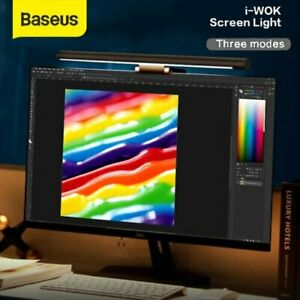 BASEUS USB LED HANGING SCREEN LIGHTS DESK OFFICE COMPUTER READING DIMMABLE LAMP