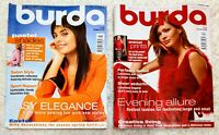 Two Burda Moden Style Magazines Complete with Patterns 3/2004 12/2004
