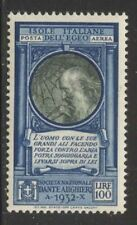 Italy-Aegean 1932 da Vinci Airmail Sc# C14 NH