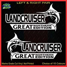 LANDCRUISER stickers accessories Ute Car MX Funny GREAT NORTHERN 200mm PAIR