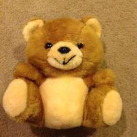 "Vtg Brown Tan Plush TEDDY BEAR 10"" Stuffed Animal Soft Toy No Tag 1980?"