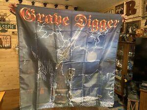 Grave Digger Band Flag 4'x4' Huge