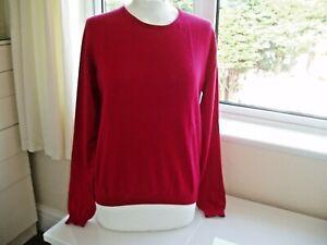 Lochmere Cashmere Jumper Size M Red
