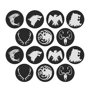 24x Game of Thrones Edible Cupcake Toppers Wafer Paper 4cm (uncut)