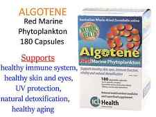 ALGOTENE Red Marine Phytoplankton 180 Capsules ICL Health Natural Superfood