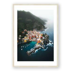 Italy Wall Art , Cinque Terre Print , Italian Wall Art , Vernazza Sunrise