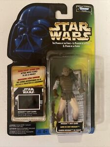 1997 RARE Kenner Star Wars POTF Freeze Frame Jabba Skiff Guard Weequay Fig MOC