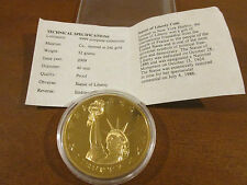 History of America Statue of Liberty Freedom and Democracy Coin with COA Gold
