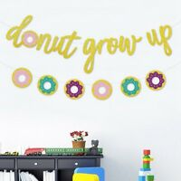 Summer Party Donut Grow Up Doughnut Letter Banner Paper Bunting Garland Decor