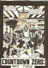 Planet of the Apes #16 Title Page - 1991 art by M.C. Wyman