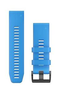 Garmin Quickfit 26mm Silicone Watch Band Cyan Blue Fenix 5X Plus 010-12741-02