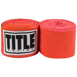 "Title Boxing 180"" Semi Elastic Mexican Handwraps - Coral"