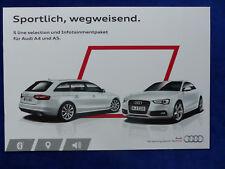 Audi S line selection Infotainment - A4 A5 - Prospekt Brochure 11.2013