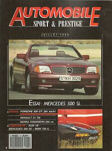 AUTOMOBILE SPORT & PRESTIGE 5 MERCEDES 500 SL R129 PORSCHE 928 GT MVS FOCHESATO