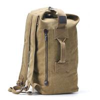 Military Duffle Bag Canvas Backpack Top Load  Tote Bags Travel Daypack Rucksack