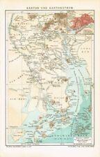 Karte KANTON / PERLFLUSS / GUANGZHOU / GUANGDONG / MACAU 1902 Original-Graphik