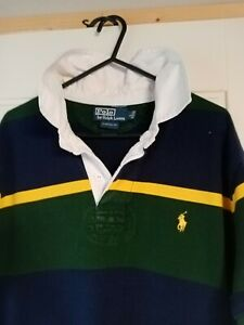 Ralph Lauren Rugby / Polo Shirt Large Custom Fit 21 Inch Pit To Pit