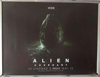 Cinema Poster: ALIEN COVENANT 2017 (Hide Quad) Ridley Scott Michael Fassbender