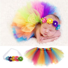 NEWBORN BABY GIRLS PHOTOGRAPHY PROPS TUTU SKIRTS+HEADBAND HEADDRESS SETS