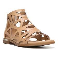 Brand New Fergie Women's Crazy Leather Flat Sandal Sz US7.5M,37.5EUR,24.5 cm