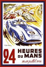 24 HEURES DU MANS 1956 Le Mans Auto Automobile Car Race  Art Ad Poster Print