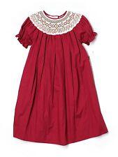 New Girl Rosalina Smocked Bishop Christmas Holiday Red Dress Size 5 Years