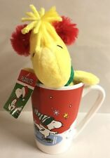 Peanuts Woodstock Santa Christmas Mug Plush Holiday Cup Gift New Snoopy