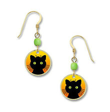 BLACK CAT EARRINGS by Lemon Tree Jewelry Halloween Dangle Fall 4008 - Gift Boxed