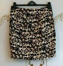 Be Beau Ladies Animal Leopard Print Stretch Tulip Mini Skirt BNWT Size UK 12