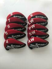 10Pcs Golf Club Headcovers for Taylormade M5 Iron Covers Red&Black 4-Lw Protect