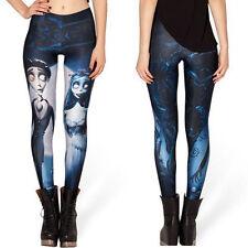 Corpse Bride Halloween Digital Printing Leggings Tights Yoga Workout Pants-Stree