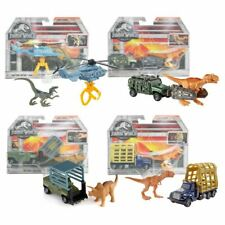 New Jurassic World Triceratops Raptor Or T-Rex Matchbox Vehicles Sets Official