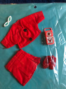 Vintage Skipper Outfit Clothes Sew Card New Old Stock Hong Kong - Red Outfit