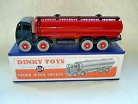 Atlas Dinky Supertoy No.504 Mk2 Foden Blue + Red Fuel Tanker mint / boxed.