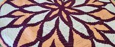 Round Crochet Blanket Flower Patterned, Lap blanket, Decorative, Colorful