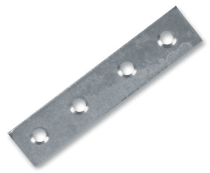 """D01065 Duratool Mending Plates 4"""" (100 mm)  zinc plated  (pack of 10)"""