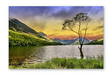 Buttermere Lake District Box Framed Stretched Canvas Wall Art Print