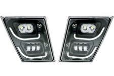 Volvo VNL LED Fog Light | U Bar Design | Pair (RH & LH) | Black