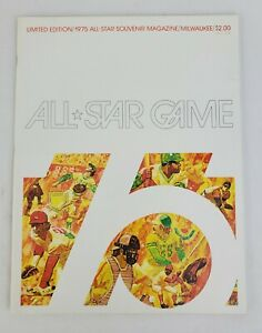 1975 Limited Edition All-Star Game Official Souvenir Magazine Milwaukee MLB