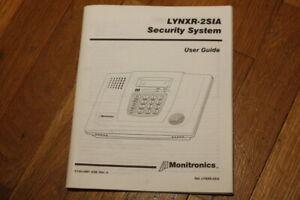 USER INSTRUCTION MANUAL Monitronics Honeywell LYNXR-2SIA   LYNXR2SIA - K1512MT