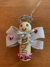 New ListingHandmade Cork Valentine Angel Ornament! Darling and Unique!