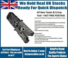BRAND NEW RJ45 RATCHET MODULAR CRIMP TOOL WITH BUILT-IN RJ45 TESTER FREE POST